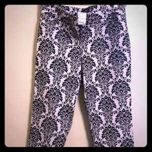 Bebe pants black and white size 8 new with tag